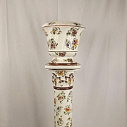 Capodimonte Pottery Jardiniere & Stand