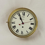 Smiths Astral Brass Cased Bulkhead Clock