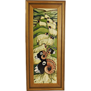 Boxed Moorcroft Swaledale Summer Framed Wall Plaque – Signed Philip Gibson 2007