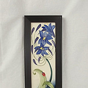 Boxed Moorcroft Fly Away Home Framed Wall Plaque 2005