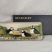 Boxed Moorcroft Ceramic Puffin Design Pin Dish 1997