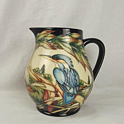 Boxed Moorcroft Kingfisher Jug Limited Edition 188/350 By Philip Gibson c2000
