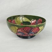 Walter Moorcroft Green Hibiscus Bowl