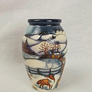 Boxed Moorcroft Woodside Farm Pattern Small Vase – Anji Davenport 1999 #1