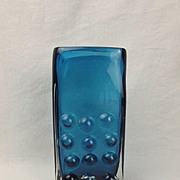 Geoffrey Baxter For Whitefriars Mobile Phone Vase - Kingfisher Blue