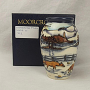 Boxed Moorcroft Woodside Farm Pattern Small Vase – Anji Davenport 1999 #2