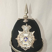 Victorian 4th Volunteer Battalion Sherwood Foresters Derbyshire Regiment Officers Helmet