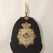 Victorian Leicestershire Regiment NCOs Spiked Pit Helmet