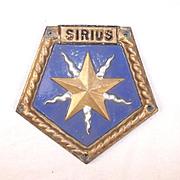 HMS Sirius (F40), Aluminium Boat Badge - Unmounted