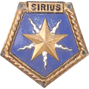 HMS Sirius (F40) Aluminium Boat Badge