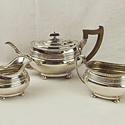 Silver Three Piece Tea Set c1920's