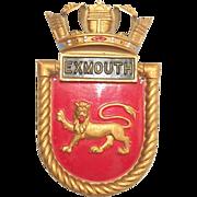 WW2 HMS Exmouth Aluminium Ships Boat Badge E Class Destroyer