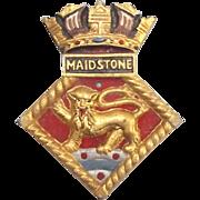 WW2 HMS Maidstone Submarine Depot Aluminium Ships Boat Badge