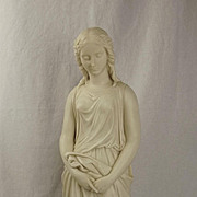 Copeland Parian Ware Figure Of Maiden Hood By Edgar Papworth