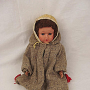 Vintage Wood & Plaster Doll