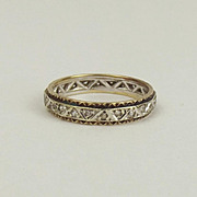 9ct Gold & Topaz Eternity Ring UK Size R US 8 ½