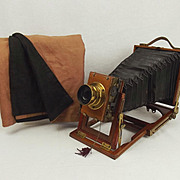 Early 20th Century Folding Bellows Plate Camera