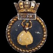HMS Tiptoe Aluminium Ships Crest – Mess Badge