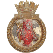 WW2 HMS Bermuda Aluminium Ships Crest