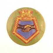 WW1 HMS Concord, Bronze Ships Crest – Tompian - Unmounted