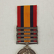 Queens South Africa Medal With 4 Clasps – Pte R. Seward Lancashire Fusiliers