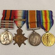 Boer War & WW1 Medal Group Of Four – Pte G. Ellerby - East Yorkshire Regiment