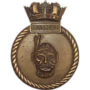 HMS Rangatira Bronze Ships Boat Badge Falklands War Support Ship