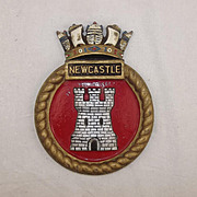 WW2 HMS Newcastle, Bronze Ships Crest - Unmounted