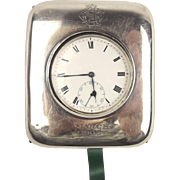1937 Sterling Silver Open Faced Pocket Watch With Case