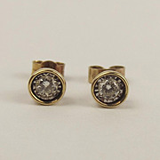 Pair Of 9ct Yellow Gold Diamond Stud Earrings