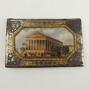 Delacroix Painted Gilt Steel Ladies Notebook c1841