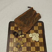 Mid 19th Century Sailor Home Made Whaling Chequers Game