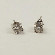Pair Of 9ct 0.5CTW White Gold Diamond Stud Earrings