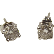 Pair Of 9ct 0.5CTW White Gold Diamond Stud Earrings