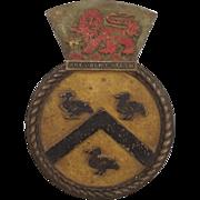 SAS President Steyn Bronze Boat Badge Type 12 Frigate