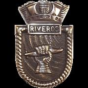 Almirante Riveros Bronze Boats Badge 1960 Destroyer