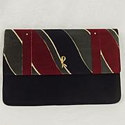 Vintage Roberta Di Camerino Velvet Clutch Handbag