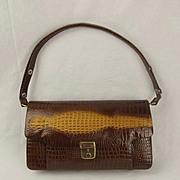 Vintage Faux Crocodile Skin Handbag