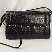 Vintage Catalan Garces Crocodile Skin Handbag