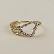 18ct Yellow Gold Cubic Zirconia Ring UK Size O+ US 7 ¼