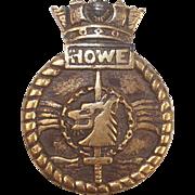 WW2 HMS Howe Bronze Boats Badge