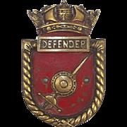 WW2 HMS Defender Bronze Boats Badge