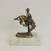 Frederic Remington Bronze Sculpture Of A Cowboy c1890's