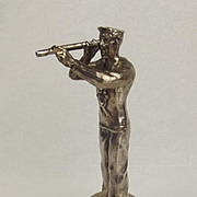 Chromed Bronze Car Mascot Figure Of A Sailor c1920