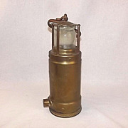 Brass Oldham 900-4090 Davy Lamp Miners Safety Lamp