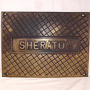 Bronze Ships Treadplate From The Ton Class Minesweeper HMS Sheraton 1956
