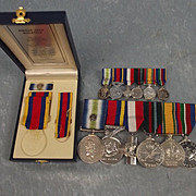 Medal Set Of Petty Officer D/1835860 D. Devlin Of The Royal Navy Ship HMS Alacrity
