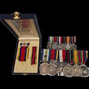 Medal Set Of Petty Officer D/1835860 D. Devlin Of The Royal Navy Ship HMS Alacrity