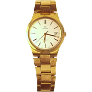 Omega Genève Gold Plated & Stainless Steel Wrist Watch