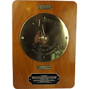 Mounted Rudder Indicator From The 1911 Paddle Steamer Embassy (Originally Duchess Of Norfolk)